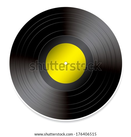 Vinyl vector illustration.