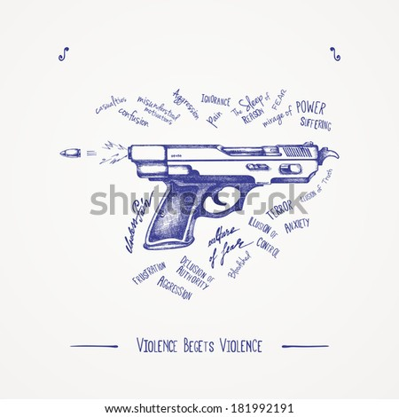Violence begets violence - stock vector