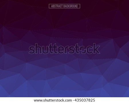 Violet and blue polygon pattern. hexagon background. triangle background, Design element. Business card. Crystal background. - stock vector