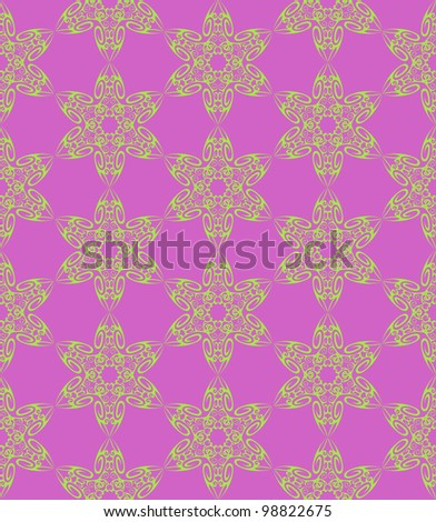 Violet and green vector seamless pattern
