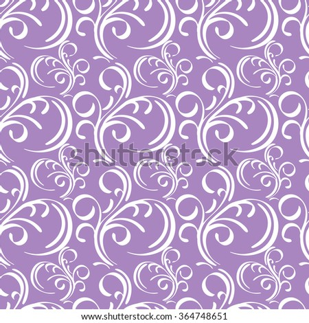 Violet and white floral seamless pattern - vector illustration