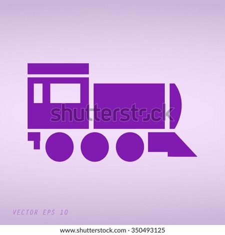 Violet Locomotive icon . Vector illustration - stock vector