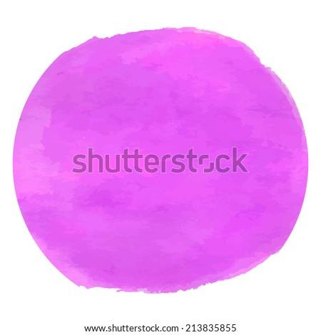 Violet magenta watercolor design. Creative background vector. - stock vector