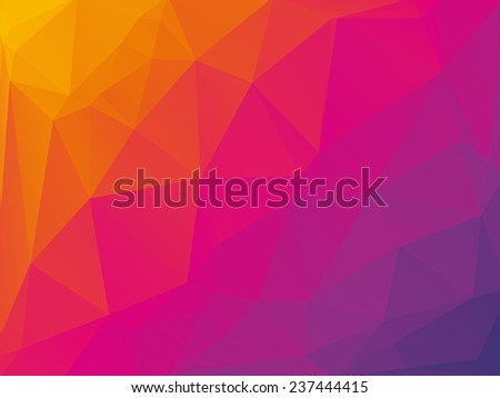 violet pink yellow triangular background - stock vector
