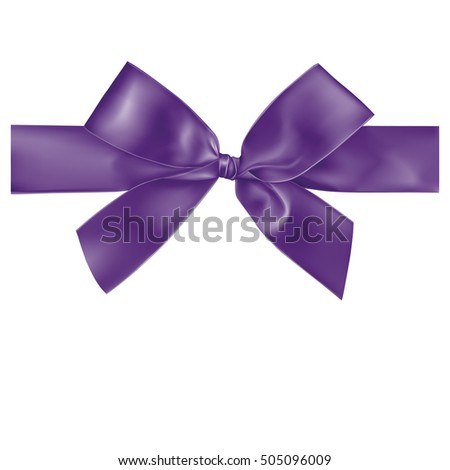 Violet ribbon on white background, illustration design.