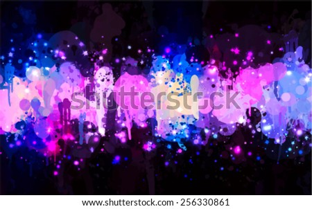 Violet stardust brush strokes background. Vector version - stock vector