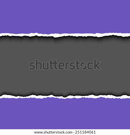 Violet Torn paper pieces background with space for your text. Vector EPS10 illustration. Design elements - paper with ripped edges - stock vector