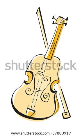 Violin - stock vector