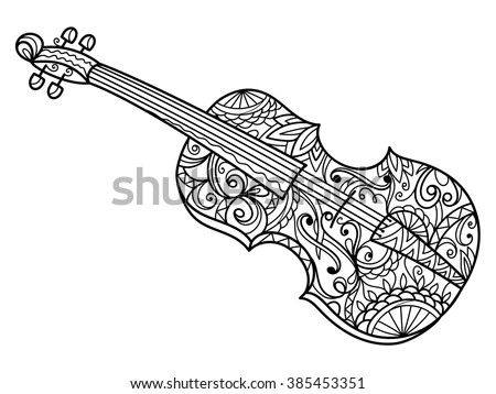Abstract A Cello Coloring Pages