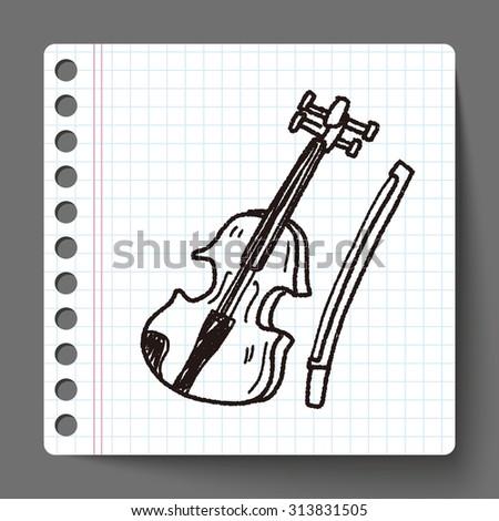 Violin doodle - stock vector