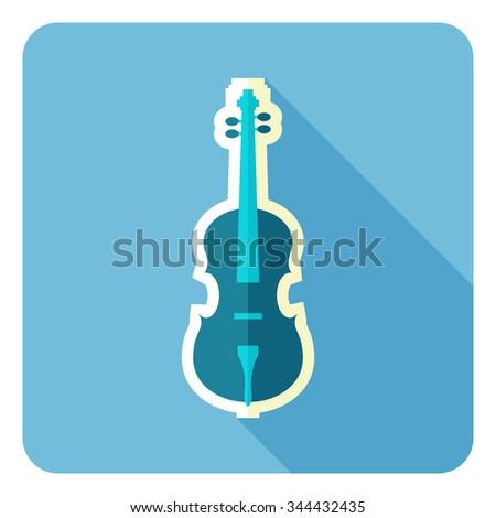Violin fork icon. Flat design. Vector illustration. - stock vector