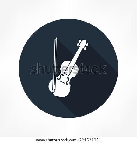 violin icon - stock vector