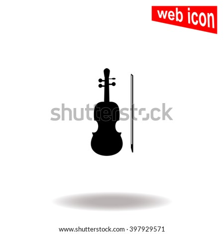 Violin icon. Universal icon to use in web and mobile UI - stock vector
