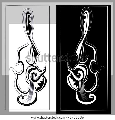 violin key vector - stock vector