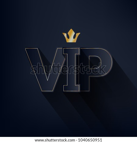 Vip abstract background dark letters crown stock vector 1040650951 vip abstract background dark letters with crown and shadow on black background good for spiritdancerdesigns Image collections