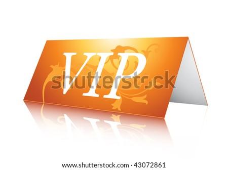 VIP card - stock vector