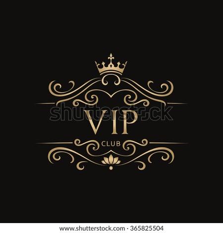 vip club logoroyal logocrests logovector logo stock vector 365825504 shutterstock. Black Bedroom Furniture Sets. Home Design Ideas