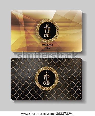 VIP gold cards - stock vector