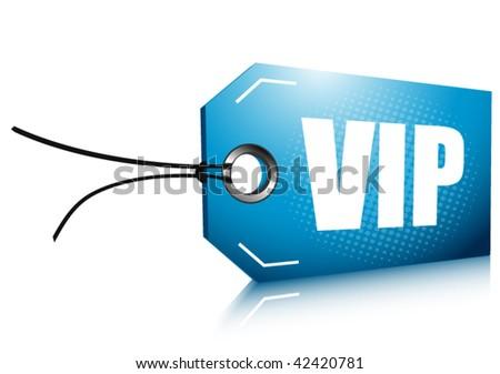 VIP label - stock vector