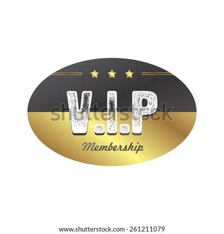 vip member badge - stock vector