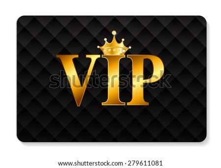 VIP Members Card Vector Illustration EPS10 - stock vector