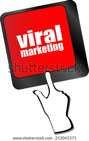 viral marketing word on computer keyboard key - stock vector