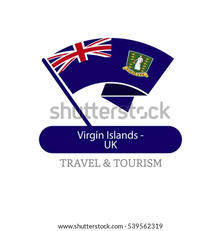Virgin Island Uk The Travel Destination logo - Vector travel company logo design - Country Flag Travel and Tourism concept t shirt graphics - vector illustration