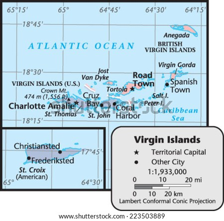 Virgin Gorda Map Stock Images RoyaltyFree Images Vectors