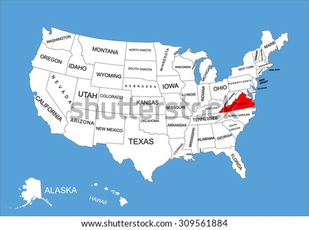 Us Map Virginia State Virginia Map - Virginia on a us map