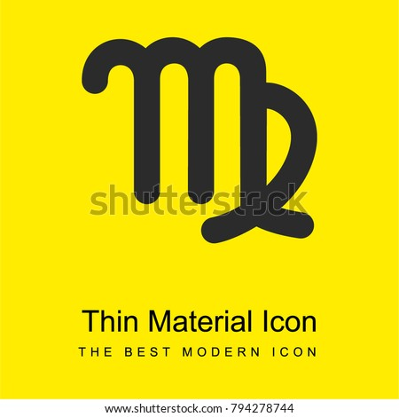 Virgo Astrological Symbol Sign Bright Yellow Stock Vector 794278744