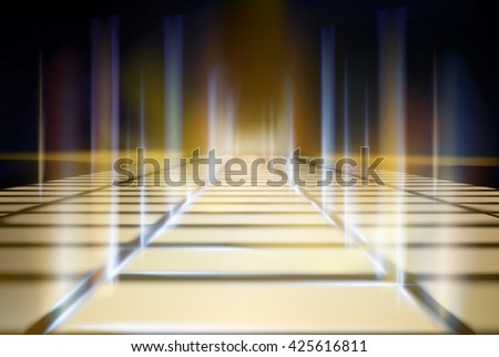 Virtual projection screen. Vector illustration. - stock vector