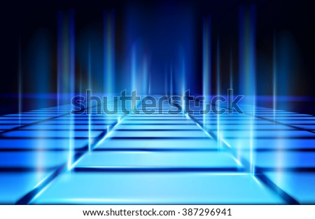 Virtual projection. Vector illustration. - stock vector