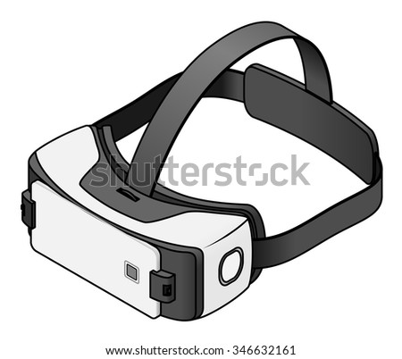 Virtual Reality VR goggles with a smartphone. - stock vector