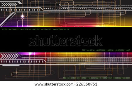 Virtual technology background. Vector illustration. - stock vector