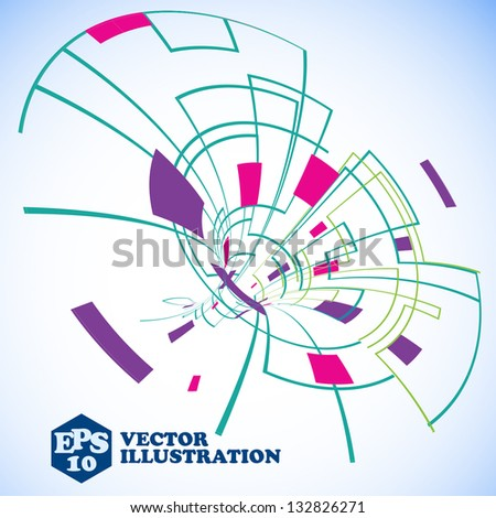 Virtual technology objects with space for your business message - stock vector