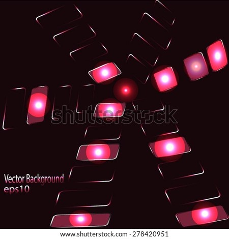 Virtual Technology Vector Background - stock vector