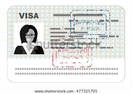 Visa  flat illustration concept.