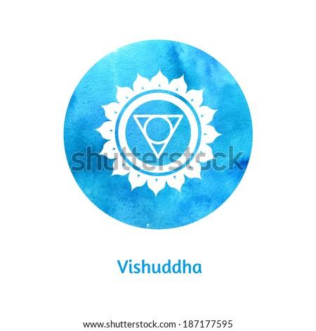 Vishuddha chakra. Vector Illustration. - stock vector