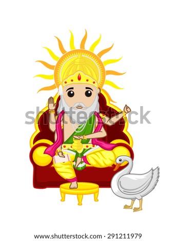 Vishwakarma Day - Indian God Festival - stock vector