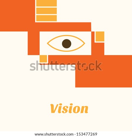vision - stock vector