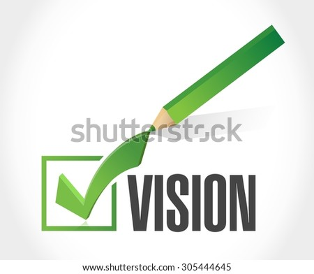 vision approve sign concept illustration design graphic