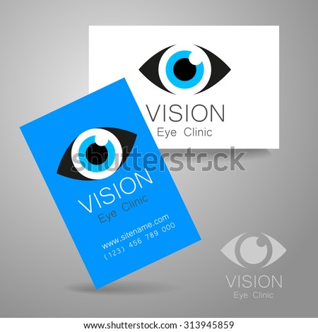 Vision - eye clinic logo. Design corporate identity for the the optics, medical center, shops glasses and lenses etc. - stock vector