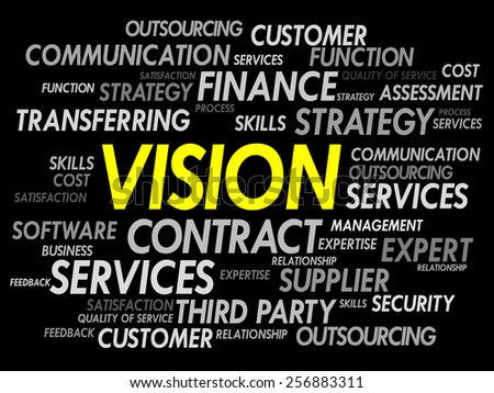 VISION word cloud, business concept - stock vector