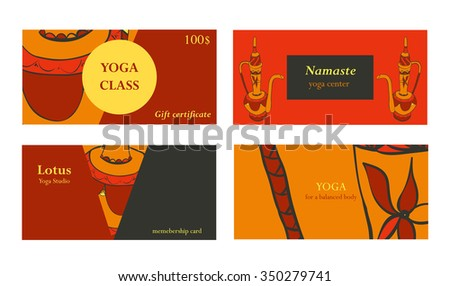 Visit cards for yoga class or studio