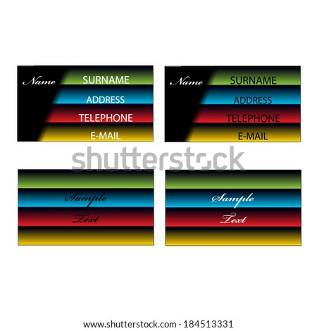 visiting card design - stock vector