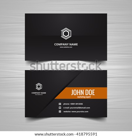 Visiting card template - stock vector