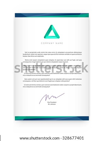 Letterhead template stock images royalty free images vectors visual identity with letter logo elements polygonal style letterhead and geometric triangular design style brochure cover spiritdancerdesigns Image collections