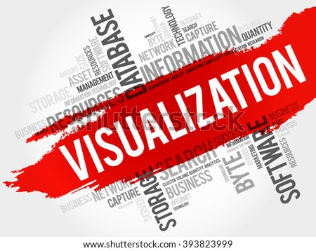 Visualization word cloud, business concept - stock vector