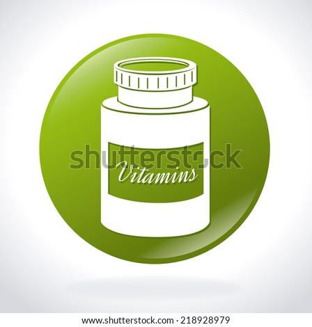 Vitamins design over white background, vector illustration