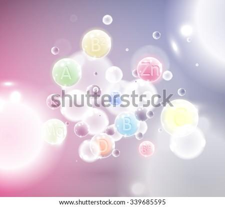 Vitamins, vector illustration - stock vector